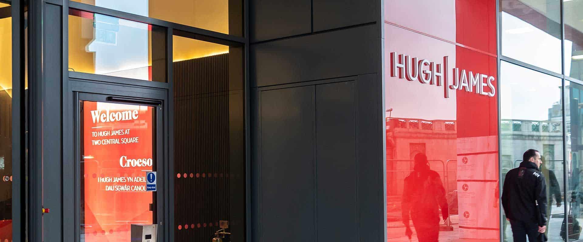 Huw James external signage