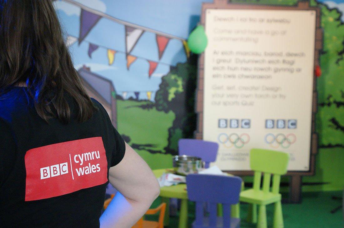 BBC Cymru Wales logo summer event branding graphics