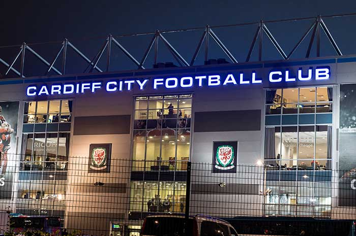 Cardiff City Football Club stadium signage