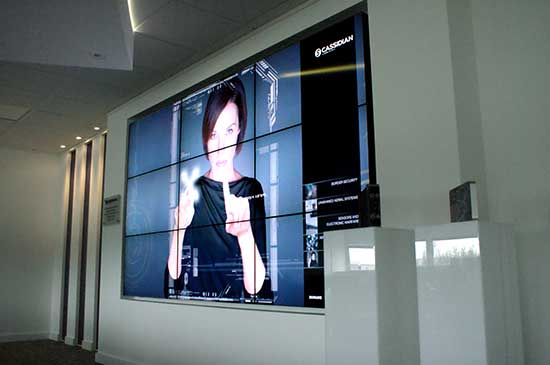 Cassidian digital video wall