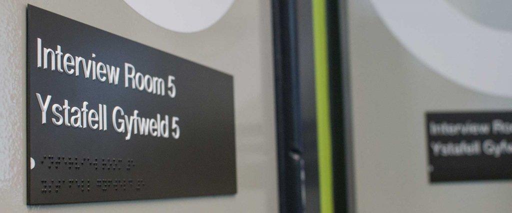 DDA compliant wayfinding signage