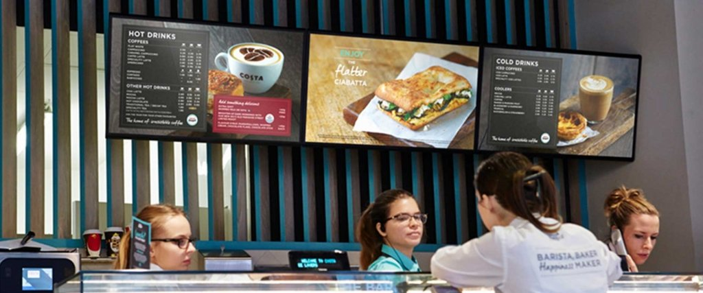 Digital retail menu displays