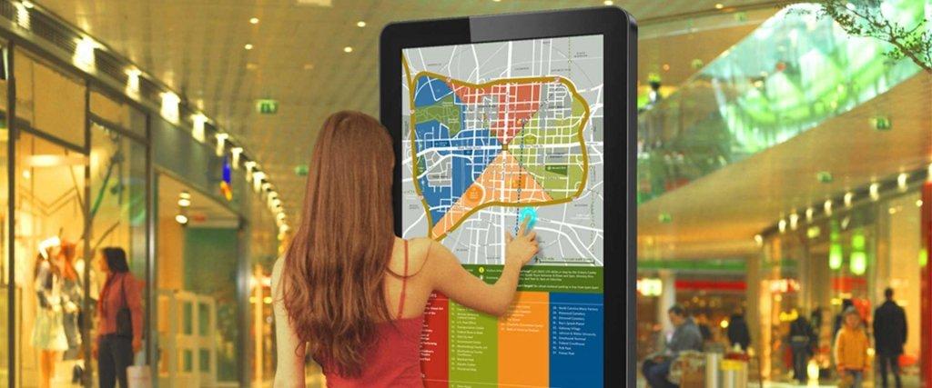 Digital wayfinding map