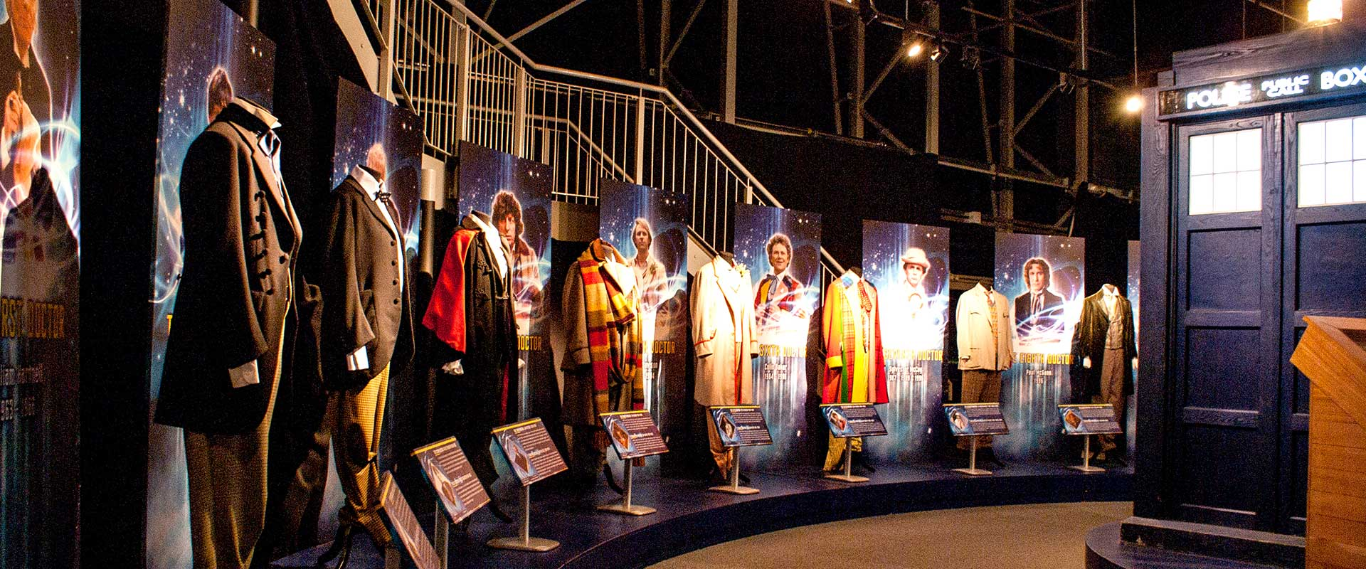 Dr Who Experience Cardiff costume graphic panels
