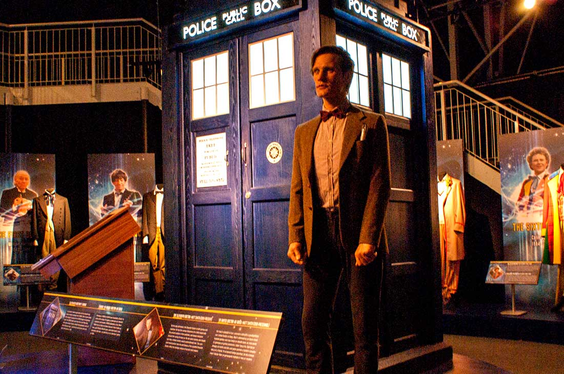 Dr Who experience Cardiff tardis set graphic panels