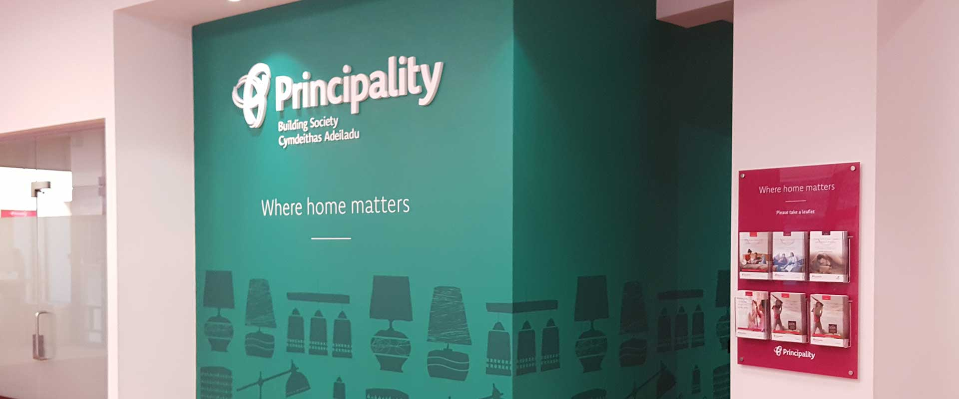 Principality Building Society feature wall