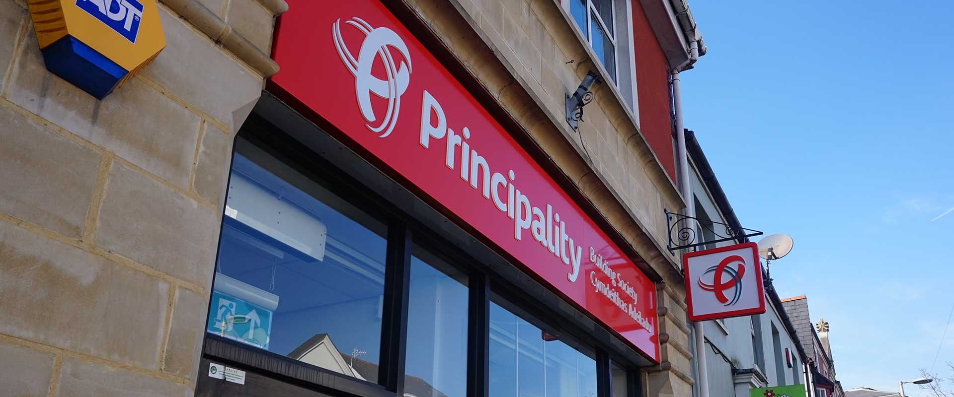 Principality Building Society external signage