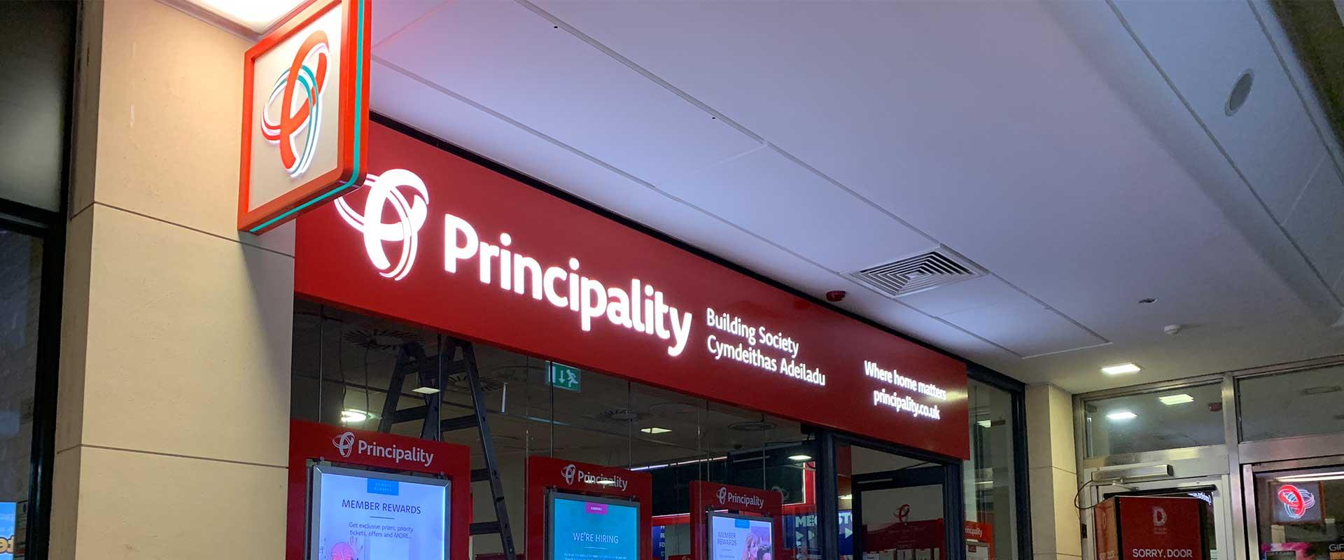 Principality Building Society St Davids external signage