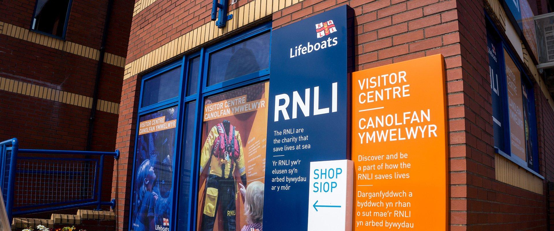 RNLI Barry Island Visitor Centre building signage branding