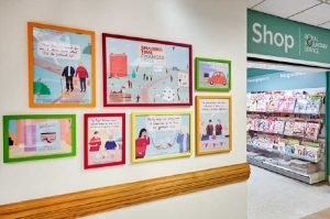 Royal Voluntary Service wall frames illustrations