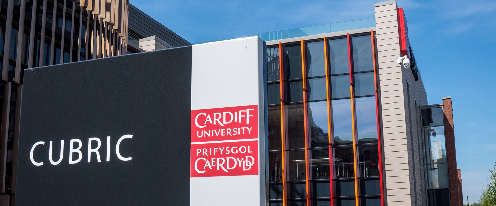 Cardiff University signage logo graphics