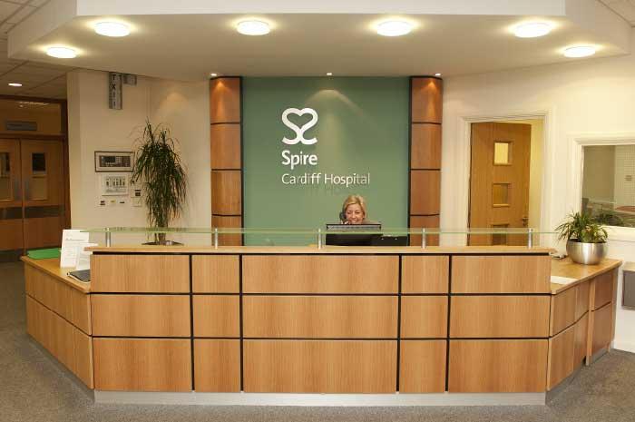 Spire Healthcare reception logo
