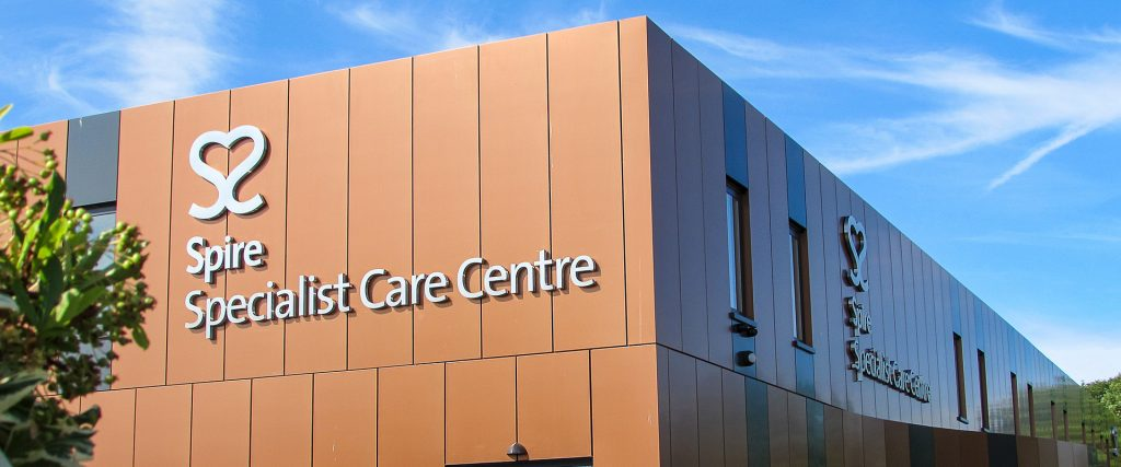 Spire Healthcare Specialist Care Centre building signage