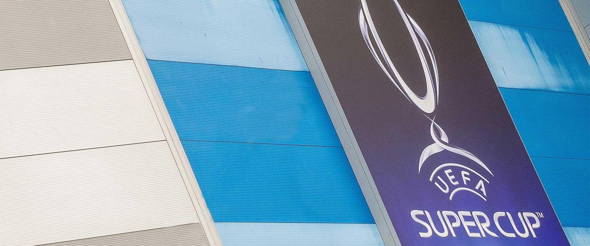 UEFA Super cup stadium branding