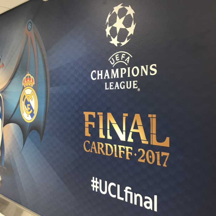UEFA Champions League Cardiff wall graphics