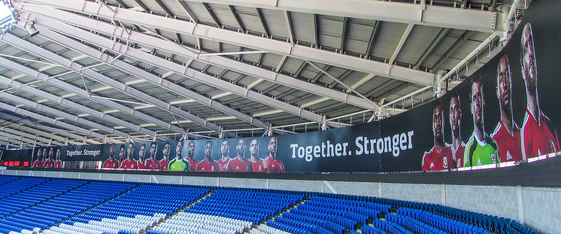 Football Association Wales stadium banners