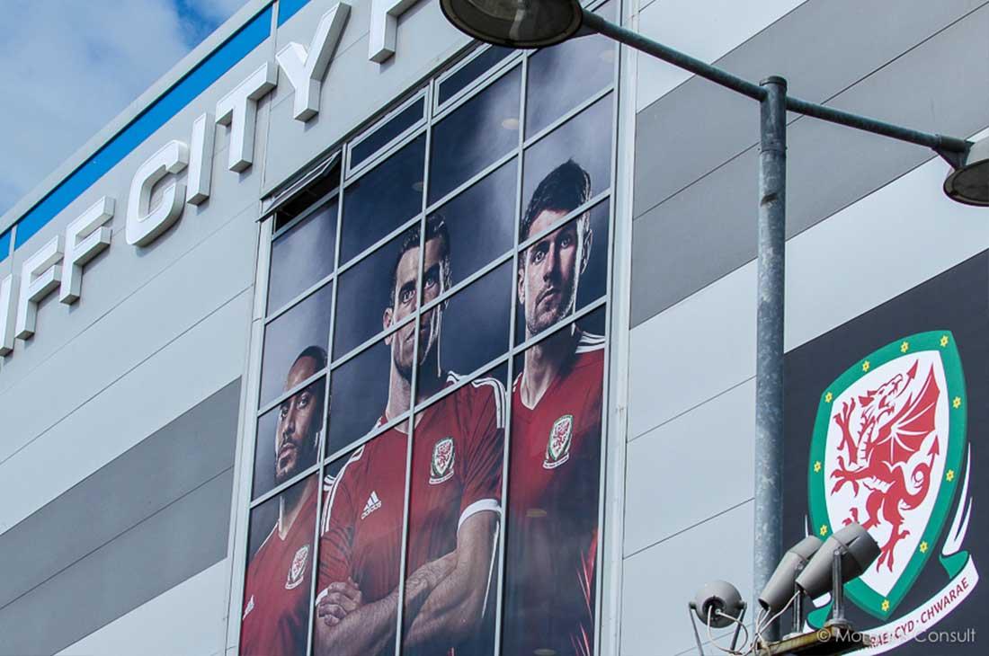 Football Association Wales stadium window graphics