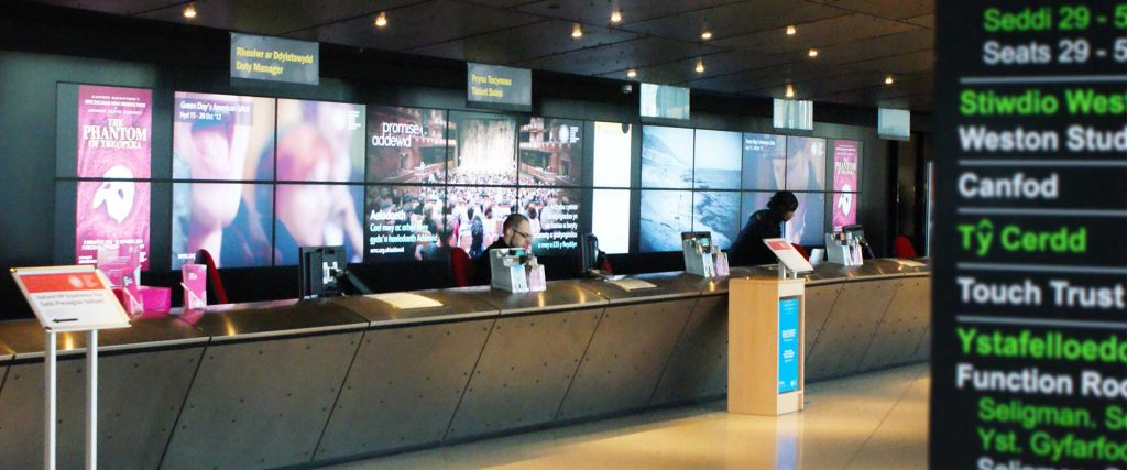 Wales Millennium Centre digital video wall