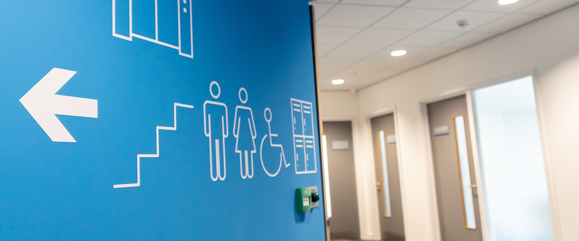 Wayfinding vinyl wall graphics