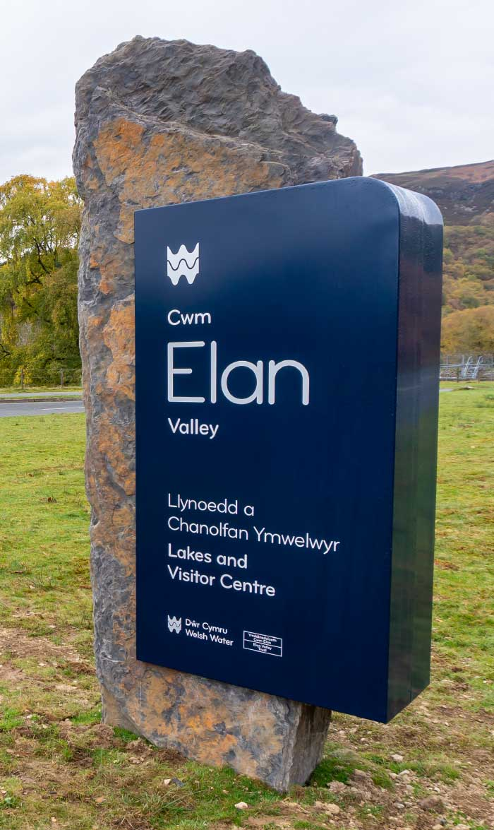 Welsh Water Elan Valley bespoke stone sign