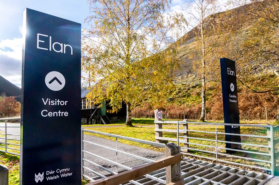 Welsh Water Elan Valley visitor centre monoliths