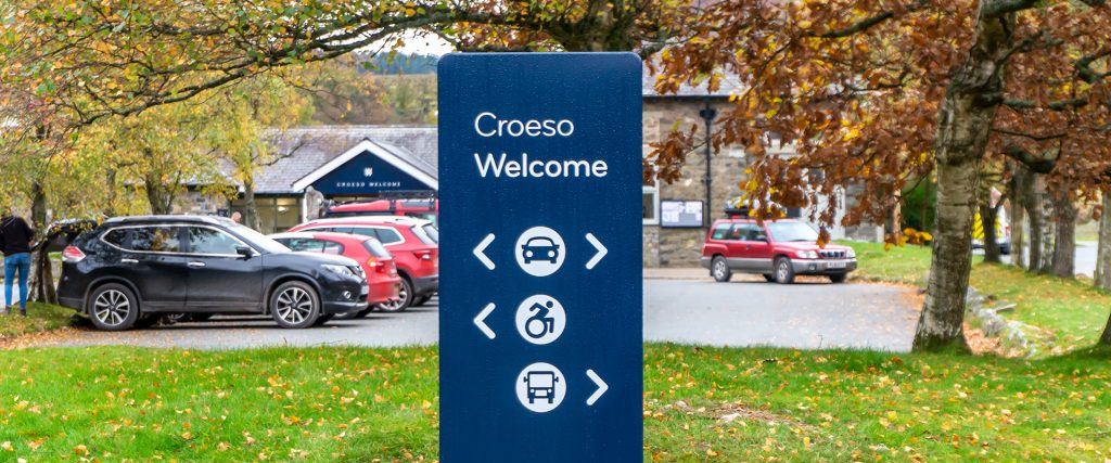 Dwr Cymru Welsh Water Elan Valley external wayfinding signage