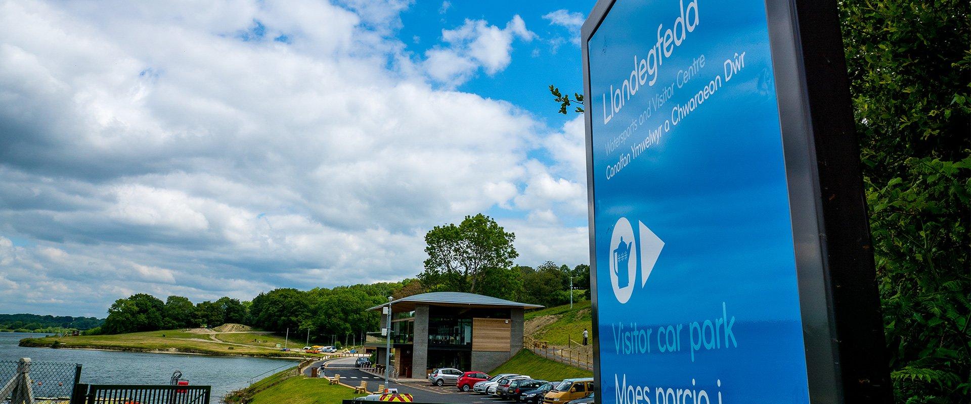 Dwr Cymru Welsh Water Llandegfedd visitor centre signage