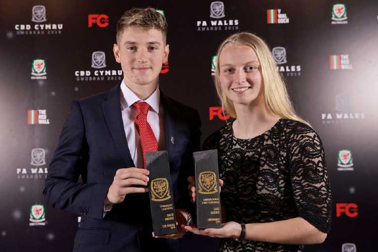 FA Wales Awards 2019 - David Brooks & Elise Hughes