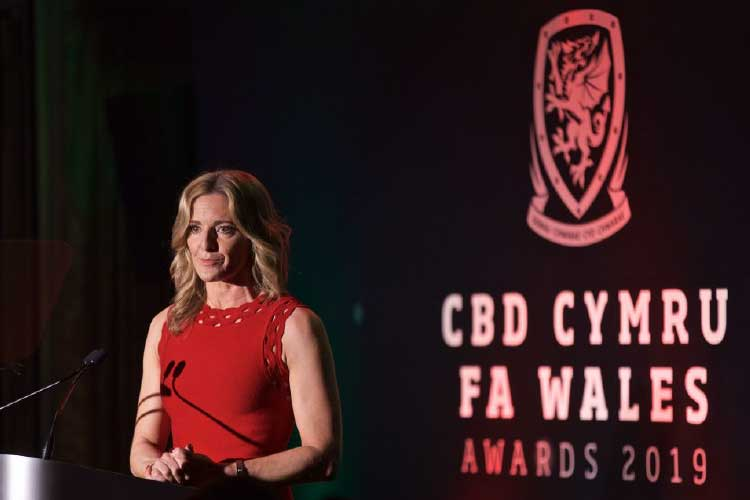 FA Wales Awards 2019 - Gabby Logan