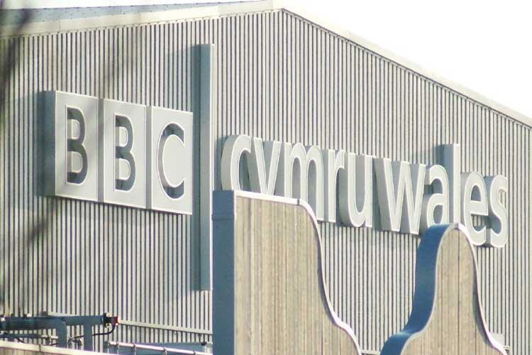 BBC Cymru Wales studio sign