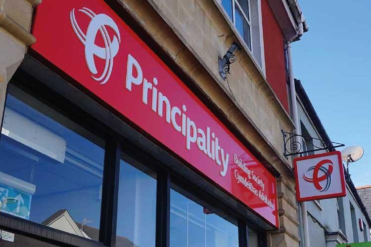 Principality Building Society signage
