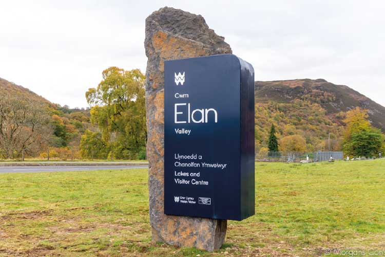 Welsh Water Elan Valley stone sign