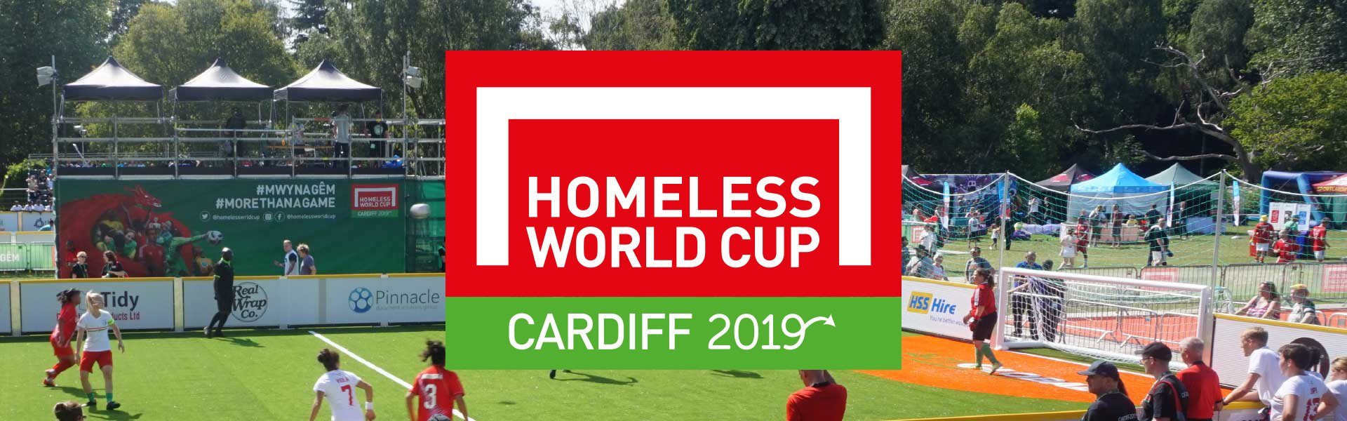 Homeless World Cup Cardiff logo