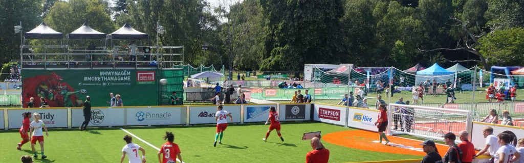 Homeless World Cup playing football