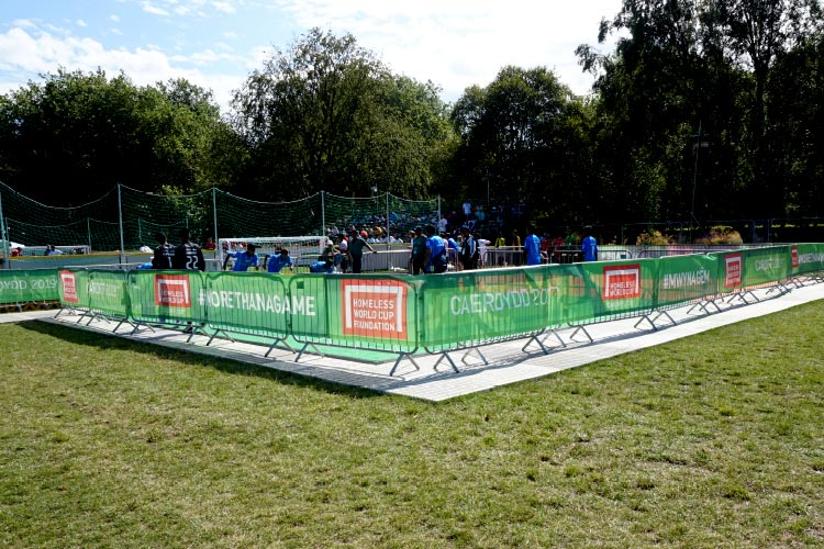 Homeless World Cup fence banners