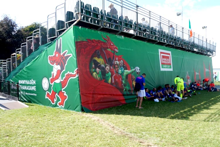 Homeless World Cup Grandstand Banners