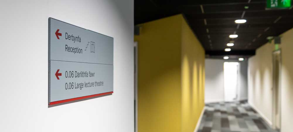 wayfinding wall sign