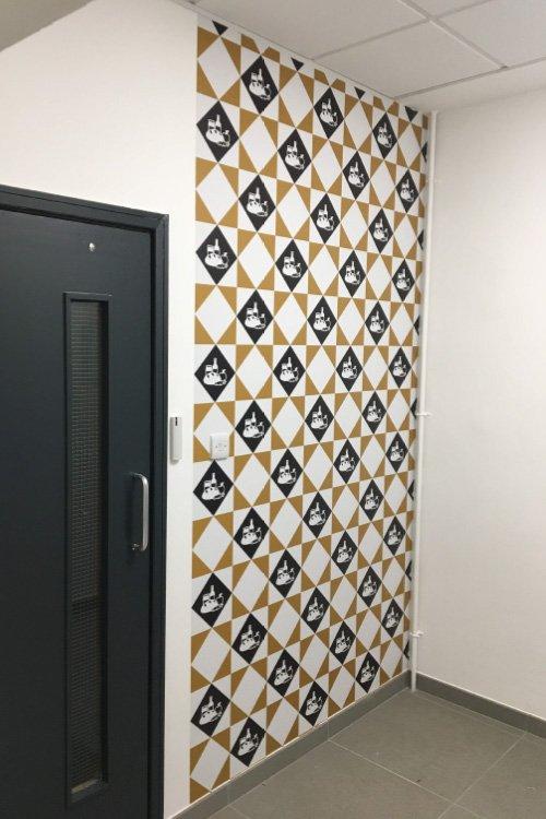 Hodge House gold wallpaper