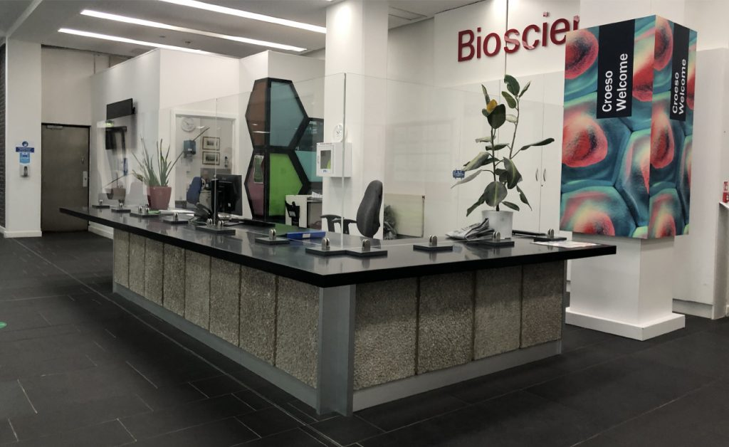 BOF safety screen reception desk