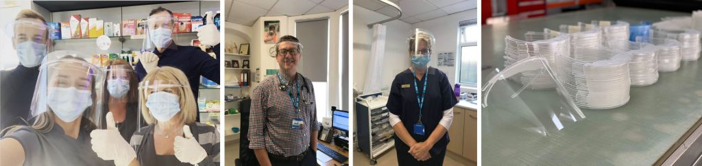 Morgans Consult NHS PPE visor donations