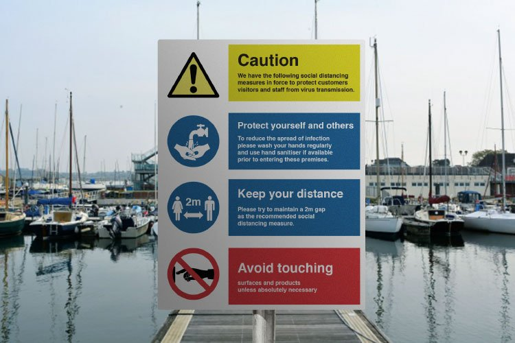 Covid 19 Safety notice sign example