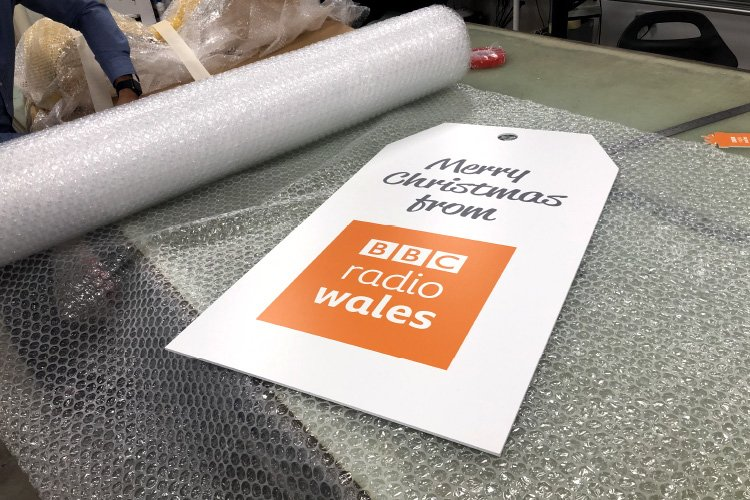 BBC Radio Wales Christmas Advert Tag Prop