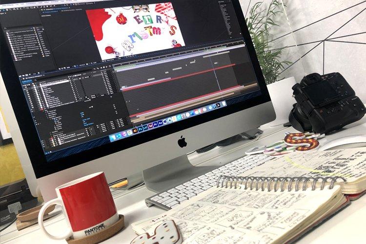 Stopmotion Christmas video editing