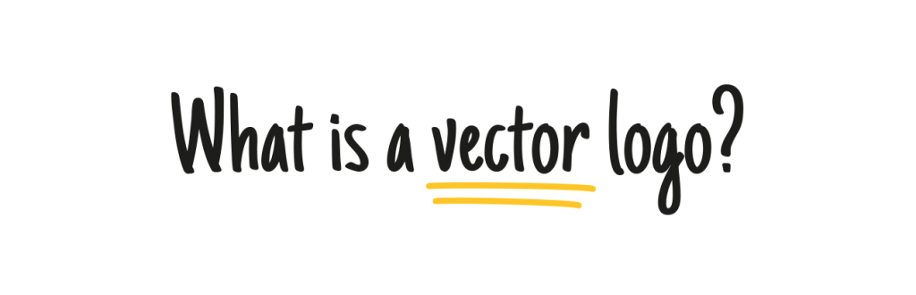 What is a vector logo text