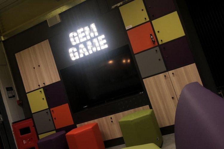 Butetown hub game illuminated letters