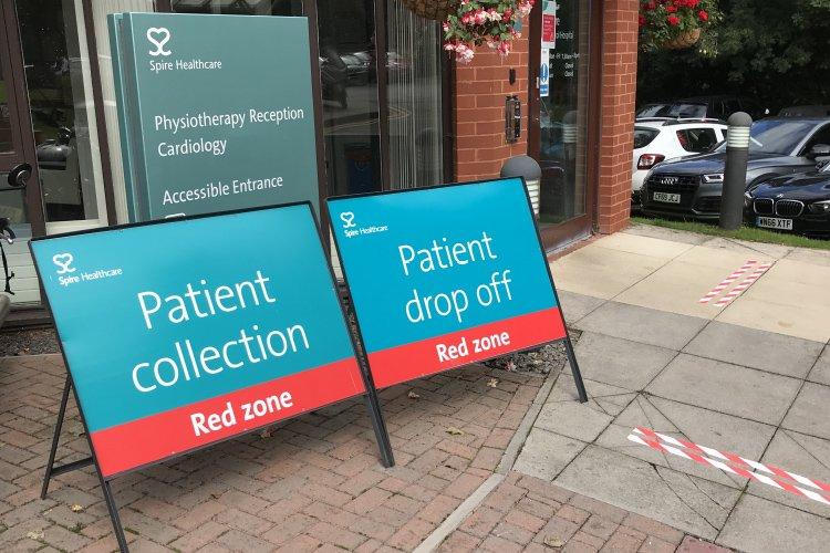 Spire healthcare covid signs