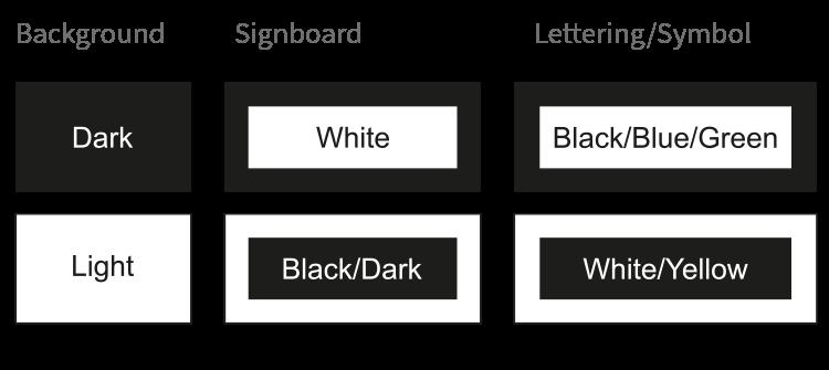 DDA Compliant sign colour advice